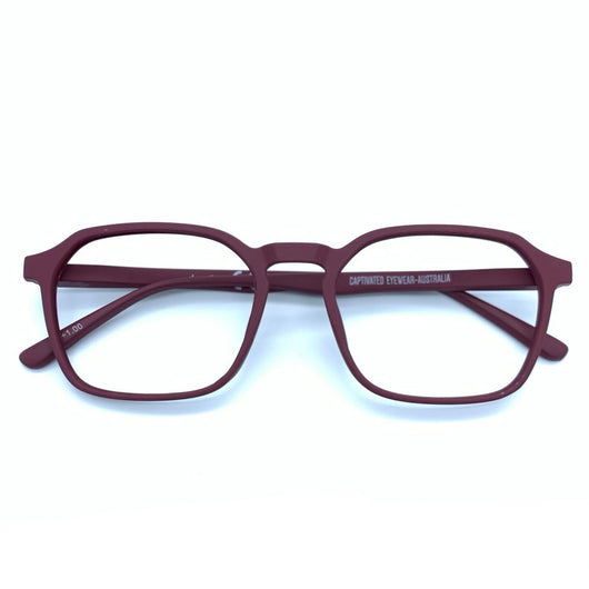 PRE ORDER - Captivated Eyewear Anti-Blue Reading Glasses - Ivan Maroon AVAILABLE EARLY OCTOBER