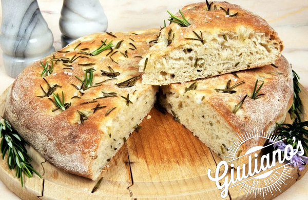 Sicilian Rosemary Focaccia with Organic Olive Oil and Garlic