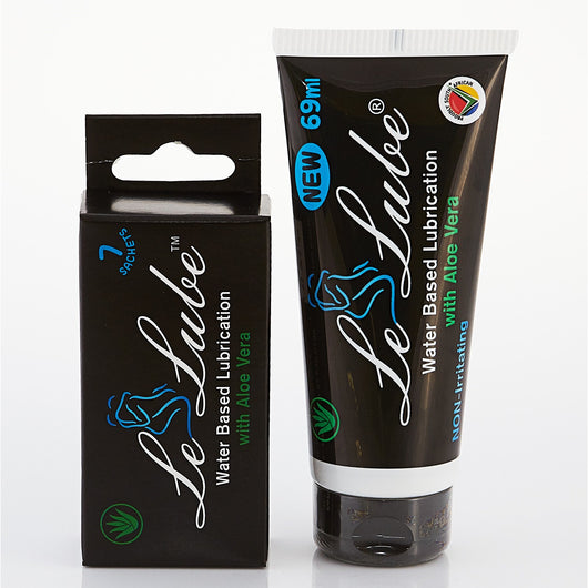 Le'Lube Water Based Lubrication with Aloe Vera (69ml) with 7 x 5ml FREE sachets