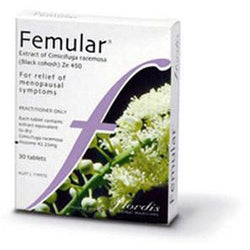 Femular 30 Tablets - symptomatic relief of menopausal symptoms