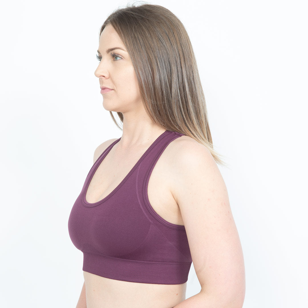 Purple Luminous Sports Bra