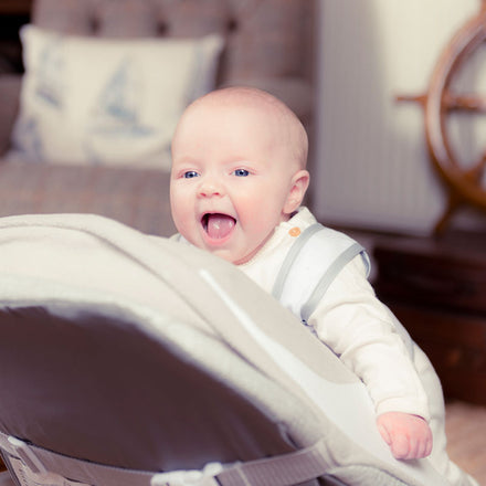 Baby laughing on the Babocush