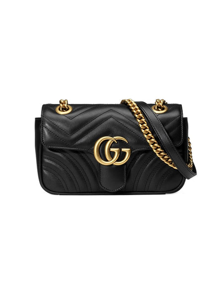 Gucci Black Leather Mini Marmont Bag