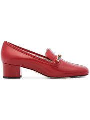 Ginger Mid Heel Red Pumps