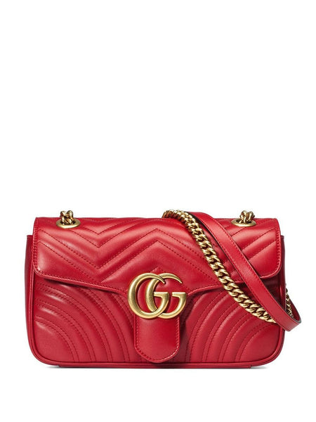 Gucci Marmont Red Leather Bag
