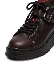 Black Leather 55 Sock Boot