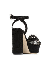 Keira 120 Black Lace Sandals