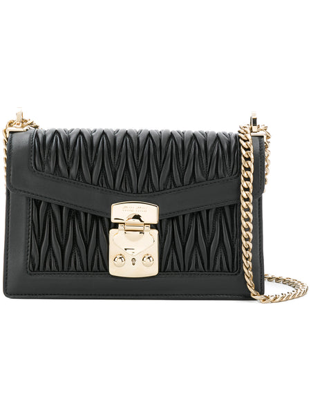 Matelasse Black Shoulder Bag