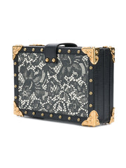 Black Lace Box Shoulder Bag