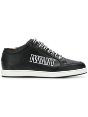 Miami Black Leather Sneakers