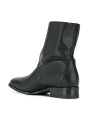 Beatrice Black Leather Boots