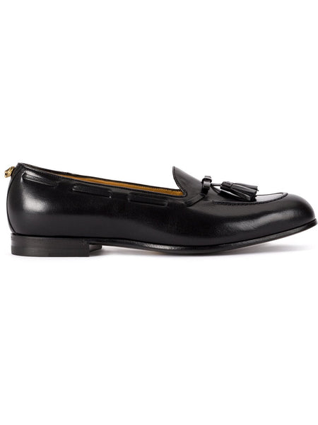Black Leather Tassel Loafers