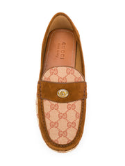 Logo Printed Driving Loafers
