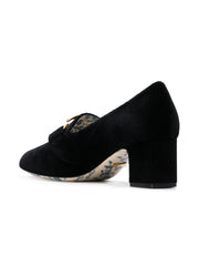Black Velvet Mid Heel Pumps