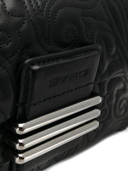 Quilted Black Leather Clutch Bag