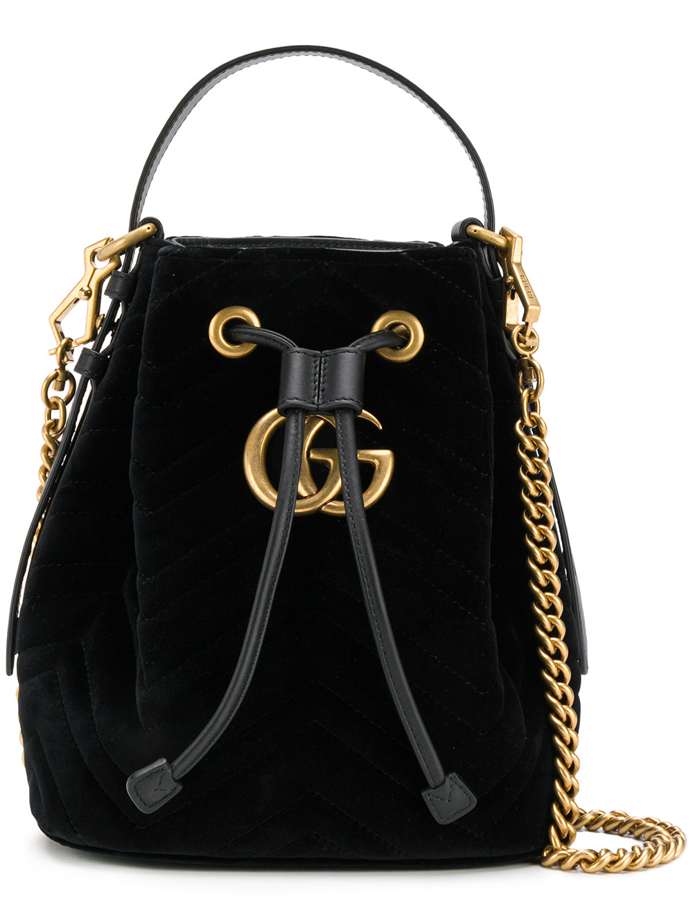 7a6004b639a2 Black Velvet GG Marmont Bucket Bag – KultBoutique