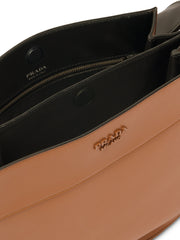 Prada Margit Brown Leather Shoulder Bag