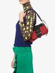 Sidione Red Leather Shoulder Bag