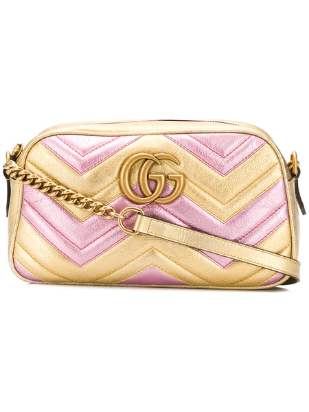 GG Marmont Metallic Camera Bag
