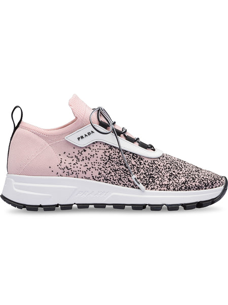 Pink and Black Knit Sneakers