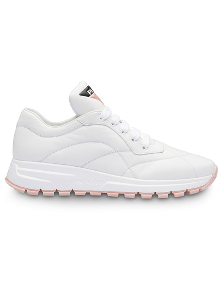 White Leather Runner Sneakers