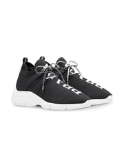 Black Logo Knit Sneakers
