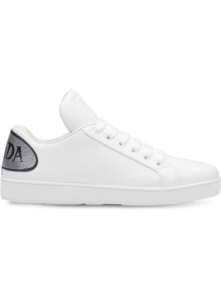 White Leather Comic Sneakers