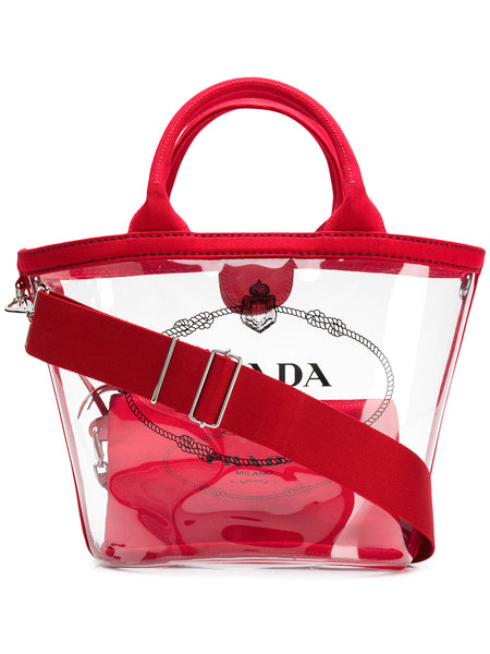 Prada PVC Clear Tote Bag