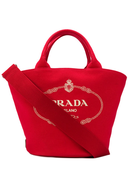 Vintage Logo Red Tote Bag