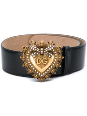 Dolce & Gabbana Devotion Black Buckle Belt