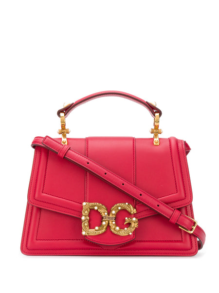 Dolce & Gabbana Red Leather Amore Bag