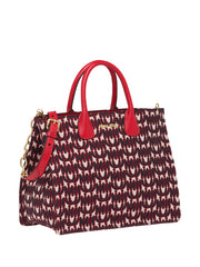 Miu Miu Jacquard Leather Red Tote