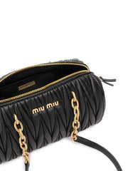 Miu Miu Matelasse Black Shoulder Bag
