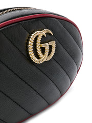 Gucci Black Matelasse Belt Bag
