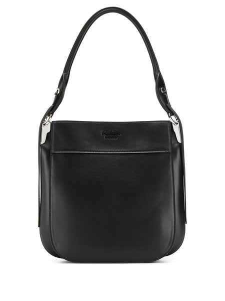 Prada Margit Black Leather Tote Bag