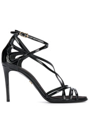 Dolce & Gabbana Keira Black Patent Sandals