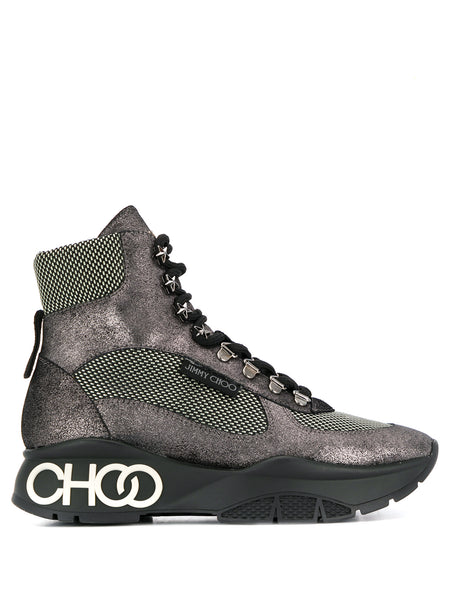Jimmy Choo Inca Hi-Top Metallic Sneakers
