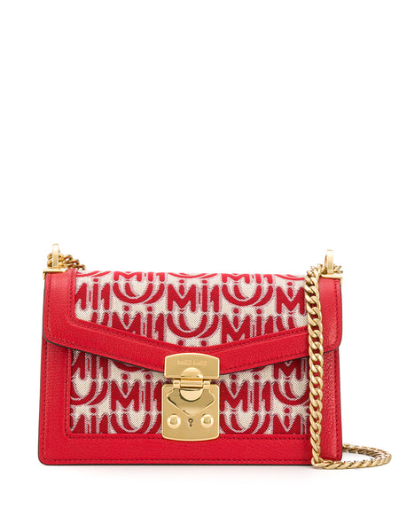 Miu Miu Confidential Jacquard Shoulder Bag