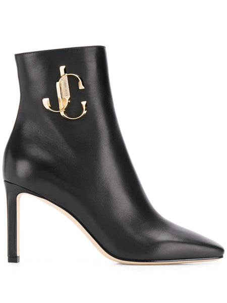 Jimmy Choo Minori Black Logo Booties