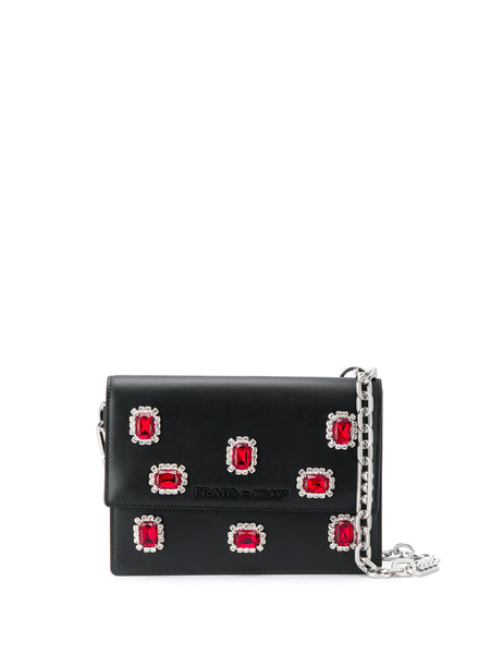 Prada Bandoliera Embellished Clutch Bag