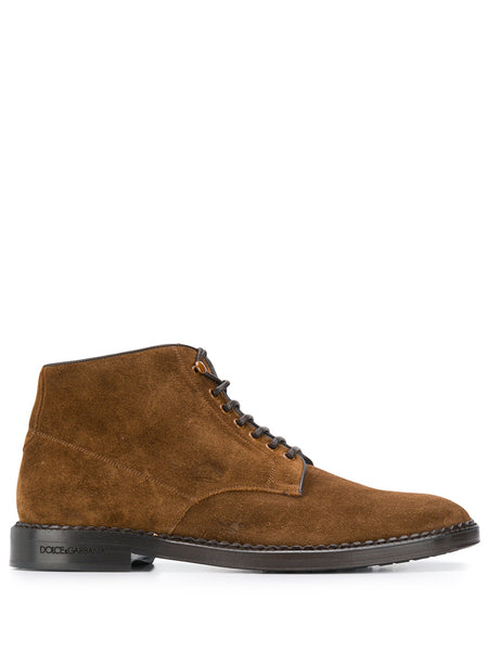 Dolce & Gabbana Brown Suede Ankle Boots