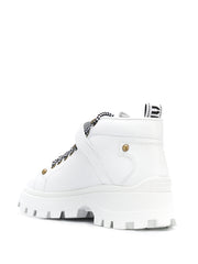 Miu Miu White Leather Boots