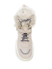 Prada Beige Lace-Up Boots