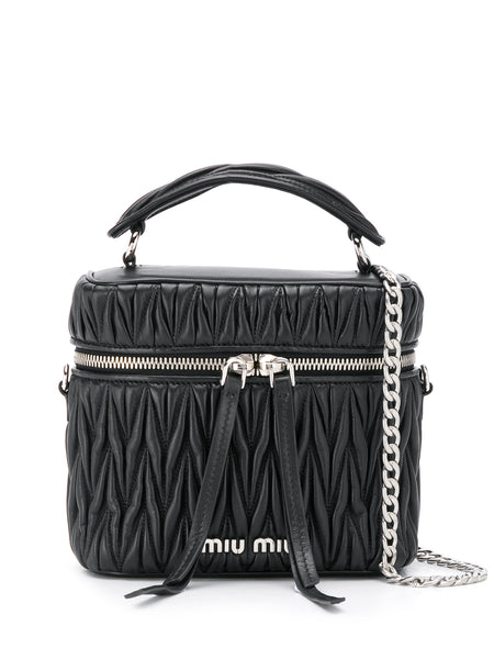 Miu Miu Matelasse Top Handle Box Bag