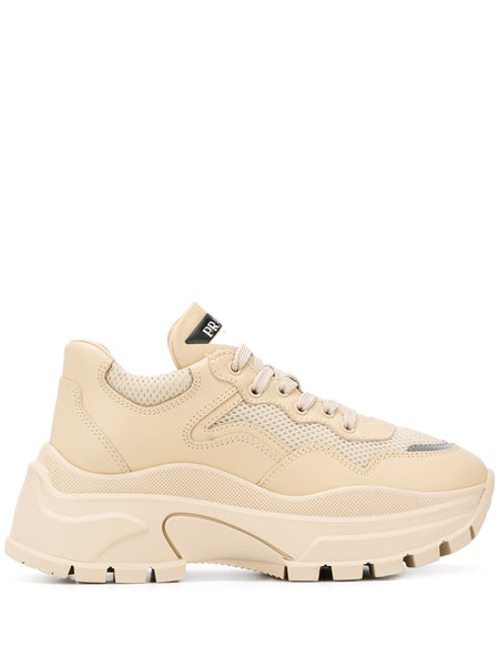 Prada Beige Low Top Sneakers