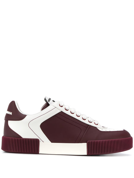 Dolce & Gabbana Miami Low Top Burgundy Sneaker