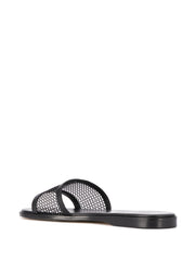 Jimmy Choo Minea Black Flat Sandals