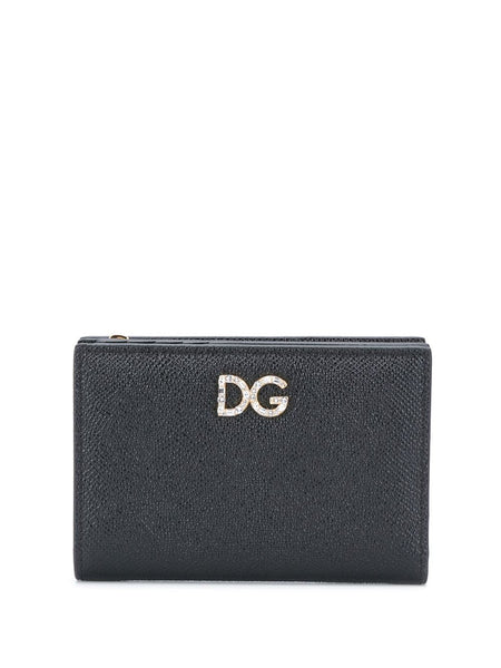 Dolce & Gabbana Leather Logo-Plaque Wallet