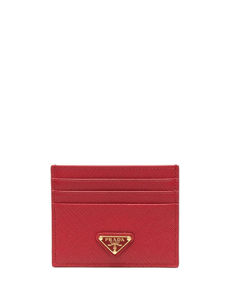 Prada Red Logo Card Holder