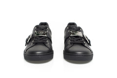 London Black Leather Sneakers